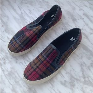 New BP Plaid Wool Blend Loafers size 9